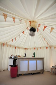 Bars. Glitter Balls and Bunting, finishing off the perfect wedding
