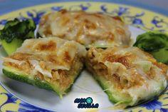 Calabacines de atún Ana Sevilla cocina tradicional Spanakopita, Vegetable Recipes, Nutella, Quiche, Zucchini, Sandwiches, Food And Drink, Yummy Food, Snacks