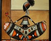 """Tableau """"Rastassis"""" New Look : Peintures par sylphide"""