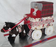 Horse and Carriage Diaper Cake www.facebook.com/DiaperCakesbyDiana