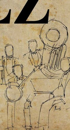 In this place we enjoy good old jazz poster and by drawspots, $38.00