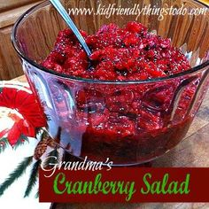 My grandmother's delicious cranberry salad!