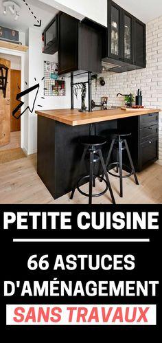 Des astuces (sans travaux) pour aménager une petite cuisine.