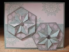 handmade card from Stamp & Scrap with Frenchie: Punch Art Hexagon Star ... Stampin' Up!