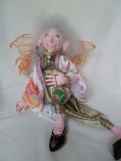 Karenza a faery ooak hand made doll by AmethystDawned on Etsy, £250.00