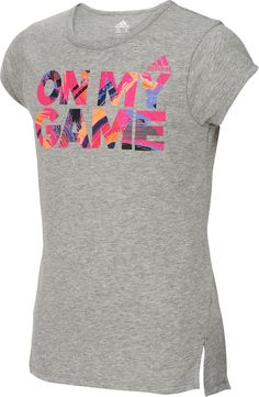 the latest 29238 8670a adidas Girls  On My Game Graphic T-Shirt, Size  Medium, Gray