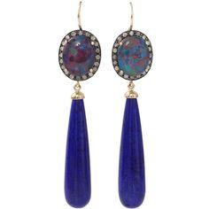 Andrea Fohrman Australian Opal Earrings ($4,300) ❤ liked on Polyvore