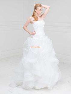 Sem Alça Organza Drapeado Vestidos de Noiva 2014