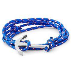 Buy Tailor Toki - Blue Sailor Anchor Bracelet for only Shop at Trendhim and get returns. Bracelet Making, Paracord Bracelets, Bracelets For Men, Beaded Bracelets, White Shoes Men, Bracelets Bleus, Bracelet Cuir, Jewelry Stand, Colors