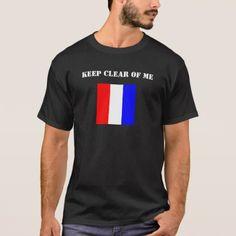 Tango Flag (T Flag) Dark-Colored Shirt - humor funny fun humour humorous gift idea