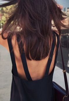 #summer #fashion / black dress details
