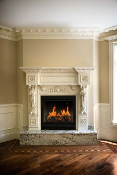 3 Fulfilled Hacks: Interior Painting Yellow interior painting trends home.Interior Painting Design Accent Walls interior painting tips manchester tan. Living Room Mirrors, Living Room Paint, Living Rooms, Fireplace Mantle, Fireplace Design, Custom Fireplace, Interior Paint Colors, Interior Design, Interior Painting
