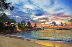 #Caribbean #Antigua. Wonderful sunset on a Antigua's beach.