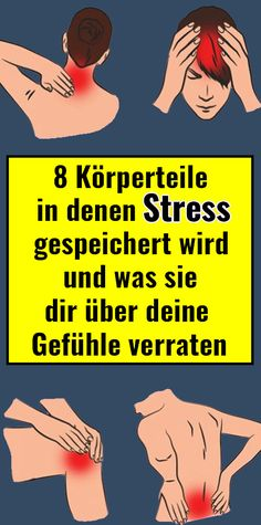 8 body parts where stress is stored and what they tell you about your feelings - 8 Körperteile, in denen Stress gespeichert wird und was sie dir über deine Gefühle verraten 8 body parts where stress is stored and what they tell you about your feelings - Fitness Workouts, Fun Workouts, Fitness Motivation, Health And Fitness Tips, Health And Nutrition, Health Tips, Psycho Test, Health Cleanse, Les Sentiments