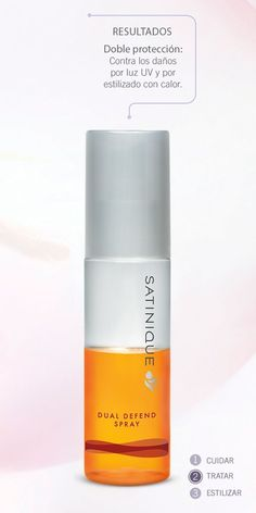 Spray de defensa doble  para el cabello - Satinique http://www.amway.com.co/RIVERAPINZONALBAMARINA