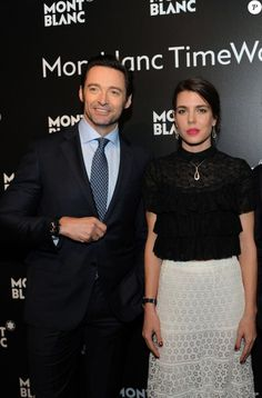 Charlotte Casiraghi tumblr: Charlotte Casiraghi with Hugh Jackman, Pierre Niney and others at the Montblanc Gala Dinner At Brasserie Des Halles as part of the SIHH January 16, 2017 in Geneva, Switzerland.