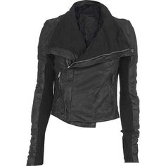 Rick Owens Blistered Leather Motorcycle Jacket