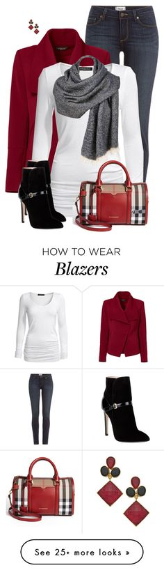 """""""Gray Blanket Scarf"""" by daiscat on Polyvore featuring Paige Denim, Greylin, Isabella Oliver, Emilio Pucci, Burberry and Kanupriya"""