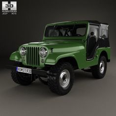 Jeep 1954 by The model was created on real car base. It's created accurately, in real units of measurement, qualitatively and maximally clos Cj Jeep, Jeep Wrangler, Jeep Willys, Green Jeep, Car 3d Model, Custom Car Interior, Jeep Models, Jeep Renegade, Us Cars