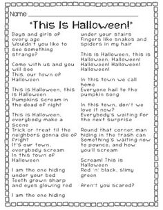 """Listen to """"This Is #Halloween"""" from The Nightmare Before Christmas movie and find the #simile and #metaphors with your students!"""