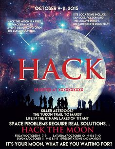 Hack the Moon One Page Flyer by miai313