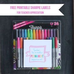 Free printable gift tag for sharpies for teacher appreciation #gift #idea #teacher