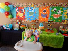 Monsters Birthday Party Ideas | Photo 1 of 28 | Catch My Party                                                                                                                                                      More