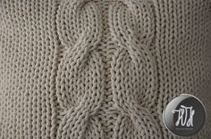 Handmade knitted pillow creamy natural by HolaHandmade on Etsy