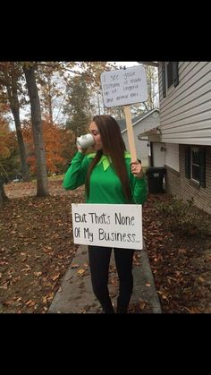 Kermit meme costume. I see your costume is made up of lingerie and animal ears...but that's none of my business.