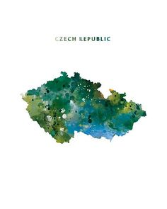 Czech Republic Map Czech Republic Watercolor Art Print  #CzechRepublic #watercolor #CzechRepublicmap #painting #abstract #illustration  #art #cool #artwork #prague #modernmap #typography #green #yellow #officedecor #Českárepublika #artist #travel #urbanstyle