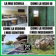 La #scuola, tu come la vedi? Tagga i tuoi amici e condividi le risate di #bastardidentro www.bastardidentro.it