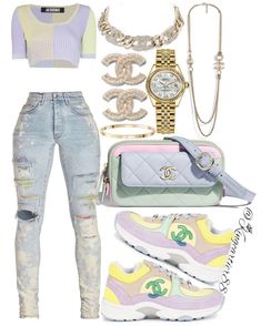 Boujee Outfits, Baddie Outfits Casual, Swag Outfits For Girls, Cute Swag Outfits, Dope Outfits, Teen Fashion Outfits, Stylish Outfits, Dope Fashion, Swagg