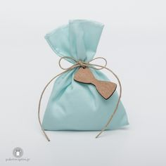 Christening Bomboniere Cotton Tiffany Blue Pouch with Wooden Bow Tie – Baby Shower Party Baby Baptism, Christening, Baby Shower Games, Baby Shower Parties, Shower Party, Wooden Bow Tie, Baby Wedding, Little Man, Tiffany Blue