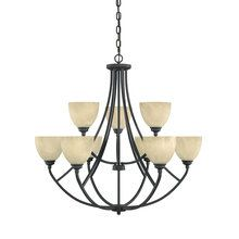 View the Designers Fountain 82989 9 Light 2 Tier Chandelier from the Tackwood Collection  at LightingDirect.com.
