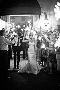 ABSOLUTELY going to do this. Who needs bubbles when you can have sparklers!