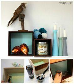 Et lille fif der giver et flottere… Wood Boxes, Floating Shelves, Diy, Inspiration, Home Decor, Dekoration, Biblical Inspiration, Wood Crates, Decoration Home