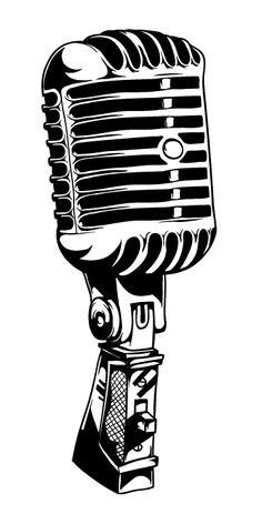 Free Microphone Clip Art Pictures in old fashioned microphone clipart collection - ClipartXtras Music Tattoo Designs, Music Tattoos, Body Art Tattoos, Music Related Tattoos, Microphone Drawing, Microphone Tattoo, Music Drawings, Tattoo Drawings, Micro Vintage