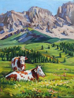 Canvas Size, Oil On Canvas, Original Paintings, Original Art, Cow Art, Fine Art Gallery, Mount Rushmore, Palette, The Originals
