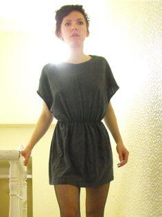 DIY T-SHIRT DRESS Von Männer-Shirt zu Frauenkleid