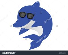Image result for dolphin wearing glasses
