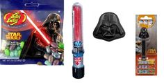 Star Wars Darth Vader Candy Bundle - Pez, Candy Tin, Jelly Beans, Light Saber -- More infor at the link of image  : Gift Baskets