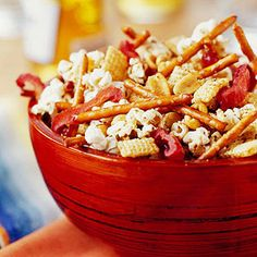 Cajun Snack MiForget the bagged stuff. Mix up these easy Cajun Snack Mix.