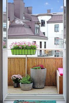 Nice balcony my dream house - outdoor balcon, idée déco appa Wood Fence Post, Vinyl Fence Panels, Small Balcony Design, Tiny Balcony, Easy Care Plants, Wrought Iron Fences, Bamboo Fence, Dream House Exterior, Garden Fencing
