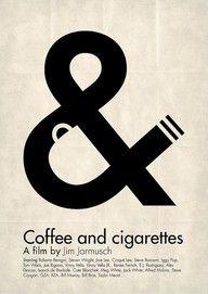 EXEMPLE : loi de figure (espace positif), fond (espace négatif) // Coffee & Cigarettes movie poster~