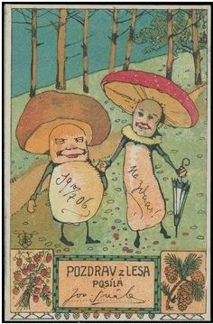"""Joseph Svab """"Salute from Forest postcard, 1906"""