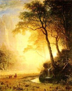 Hetch Hetchy Canyon by Albert Bierstadt Landscape Art, Landscape Paintings, Landscapes, Albert Bierstadt Paintings, Hudson River School, Light Painting, Pictures To Paint, American Artists, Painting Inspiration