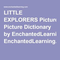 Picture Dictionary by EnchantedLearning.com