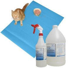 Sky Blue Pet Pad & Disinfectant Spray The ultimate pet maintenance kit. The perfect item to place around your pets to keep your floors clean.. Kit includes: pet pad, gallon bottle & spray bottle.  #Cleverbrand #Pet_Products