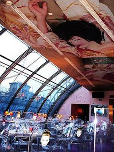 Kong or Bar de Kenzo, Paris designed by Laurent Taieb and  Philippe Starck