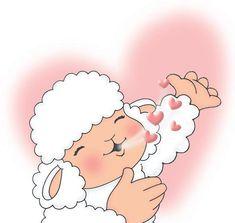 Seamos Ovejitas Fieles y con energia para estar dispuestas a recorrer el camino sin desviarnos, con Nuestro Buen Pastor que es el Señor Jesús. ღ✟ Cute Sheep, Sheep And Lamb, Jesus Art, Real Love, Dear God, God Is Good, Precious Moments, Words Of Encouragement, Nostalgia